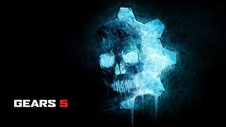 Blue Gears 5 skull.