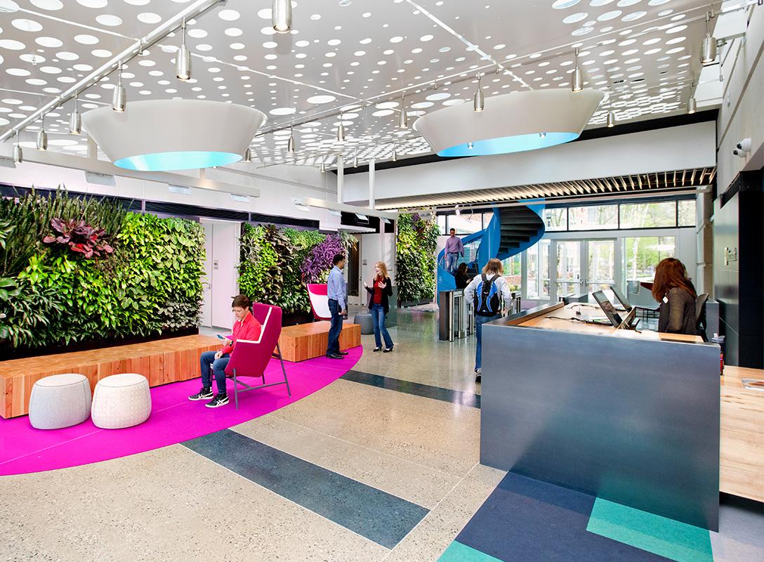 Microsoft Design reception area.