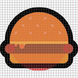 Hamburger emoji