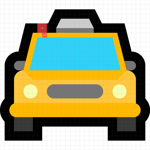 Taxi on grid emoji