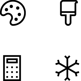 Example of various icons in a group