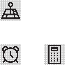 Example of various icons shown on a 32x32 grid