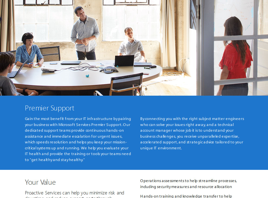 Premier Services Page