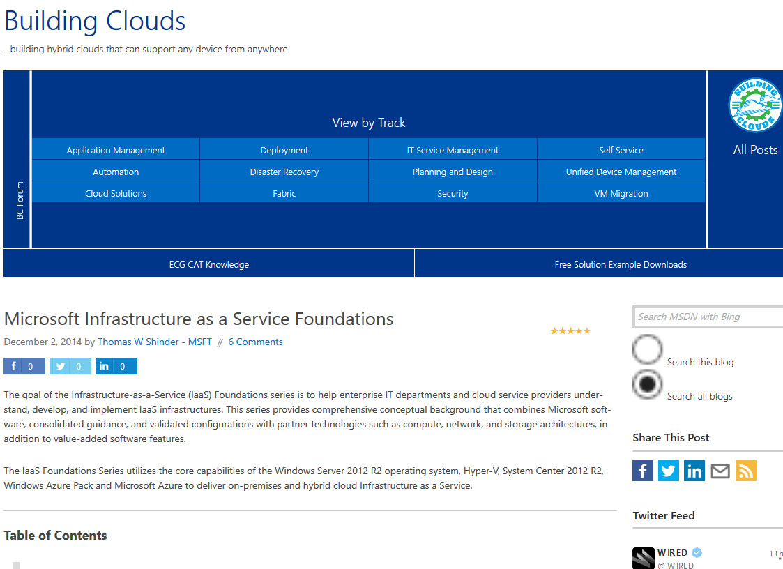 Microsoft Infrastructure-as-a-Service Architecture Series (PLA)