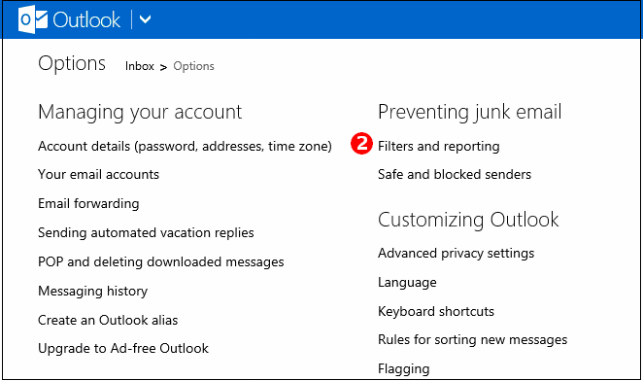 Privacy In Outlook.com