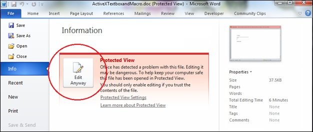 excel cannot disable protected view