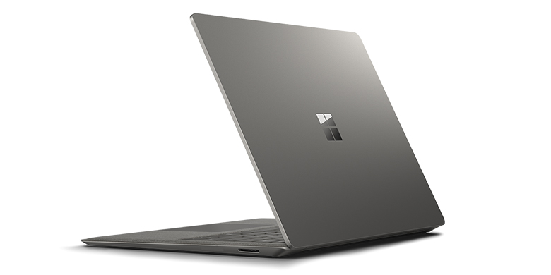 Rear view of Surface Laptop in Graphite Gold