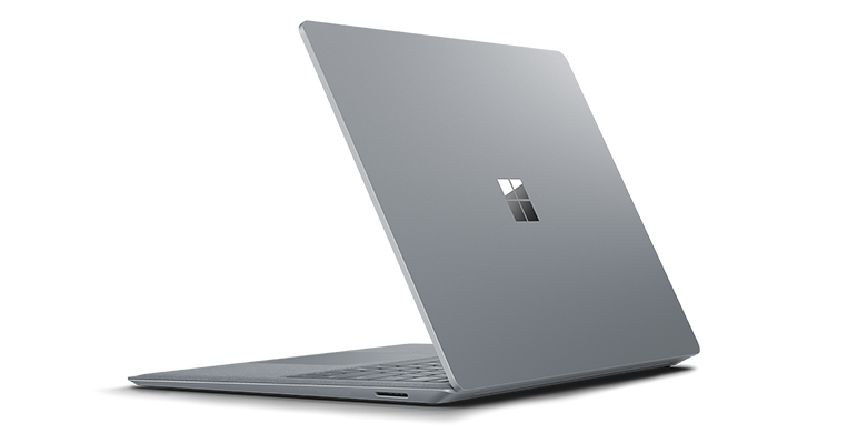 Rear view of Surface Laptop in Platinum