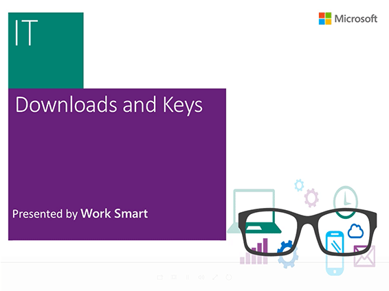 Watch an overview of how to download your software and keys using the Microsoft Volume Licensing Service Center