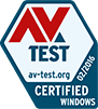 AV Test certification logo