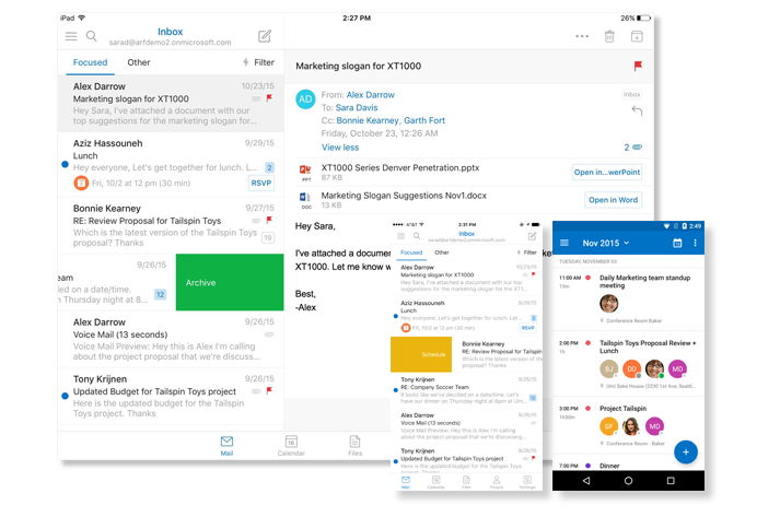 With Outlook across your favorite devices