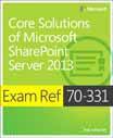 Cover of 'Exam Ref 70-331: Core Solutions of Microsoft SharePoint Server 2013'