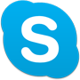 Skype logo, download the Skype app on Google Play