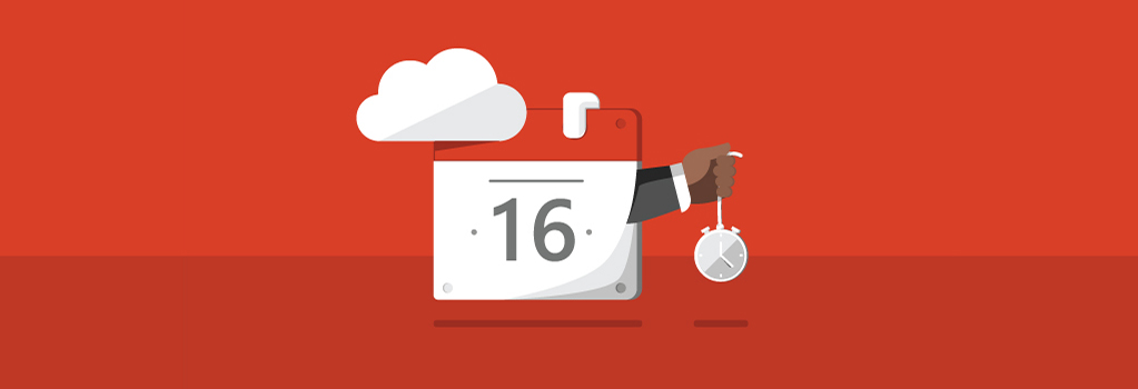cloud with calendar icon holding a clock