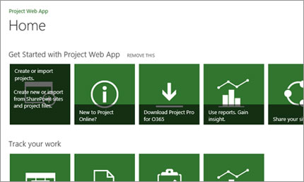 Get started quickly with Microsoft Project