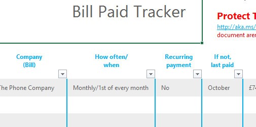 payment tracker spreadsheet