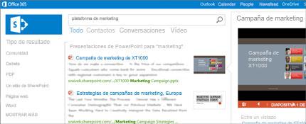 Captura de pantalla de una página de personas en SharePoint, donde puede conectar fácilmente.