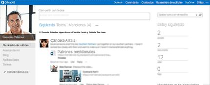 Captura de pantalla de un suministro de noticias de SharePoint que muestra la opción Compartir con todos.