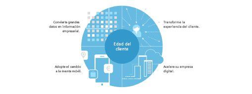 Gráfico del estudio TEI que muestra una estrategia de cuatro partes para crear la transformación de toda la empresa