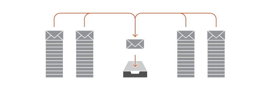 organización de la bandeja de entrada de correo electrónico