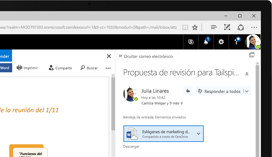 Exchange 2016 en una tableta Windows