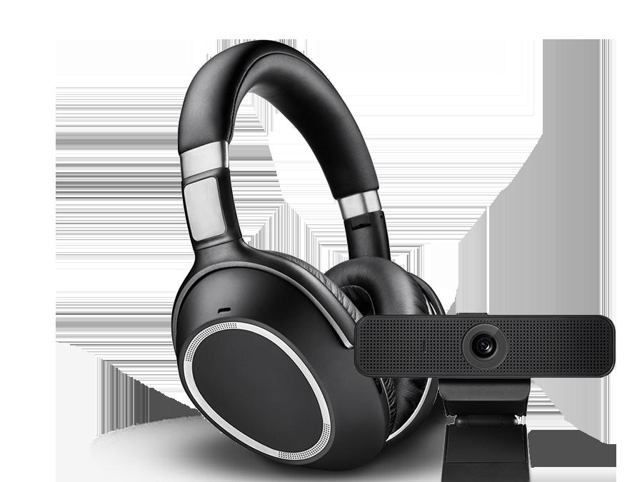 Imagen de unos auriculares y un dispositivo Bluetooth