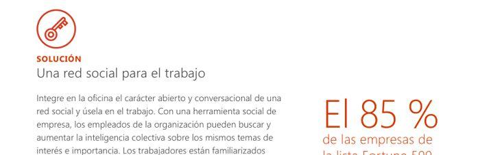"""Una página del libro electrónico titulado """"Unblocking Workplace Collaboration"""" (Impulsar la colaboración en el área de trabajo)"""