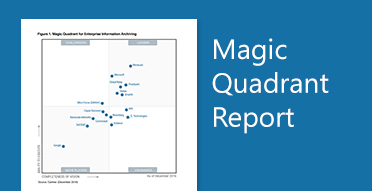 Gráfico de Magic Quadrant de Gartner, obtén información sobre el último informe de Magic Quadrant en Enterprise Information Archiving