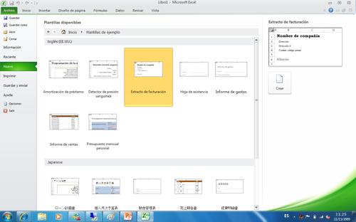 Los Office Language Packs le conectan a plantillas de Office gratuitas en el idioma de la pantalla