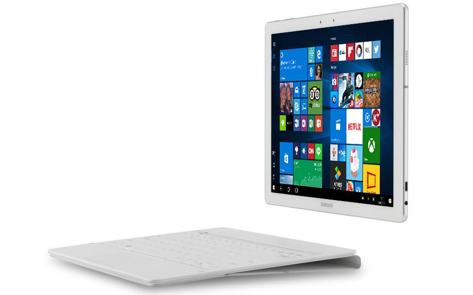 Imagen del Samsung Galaxy TabPro S con teclado extraído.