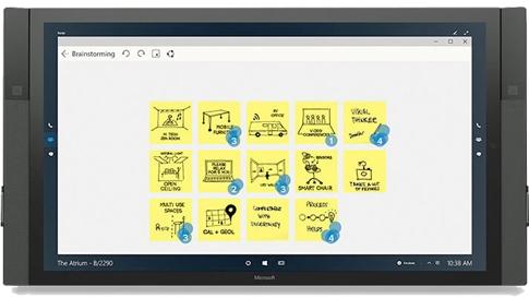 Mural que se muestra en Surface Hub.