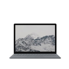 Surface Laptop con montañas nevadas como pantalla de inicio.