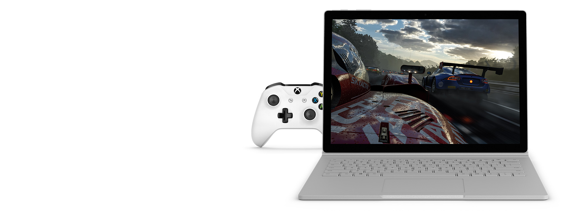 Juegos en Surface Book 2 con el Xbox Wireless Controller