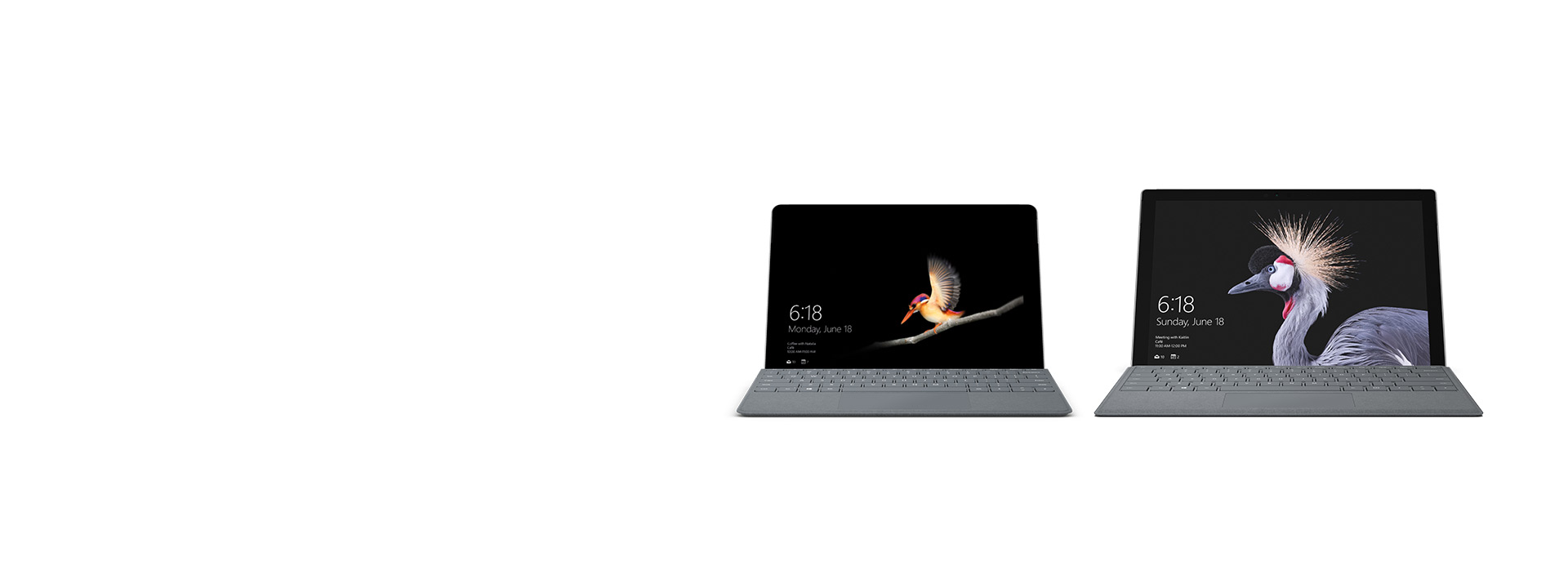 Familia de Surface: Surface Go y Surface Pro