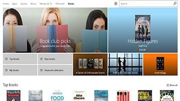 Microsoft Books en la Tienda Windows y Microsoft Edge