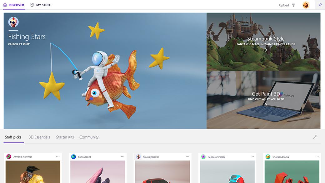 Página de inicio de la comunidad Remix3d.com