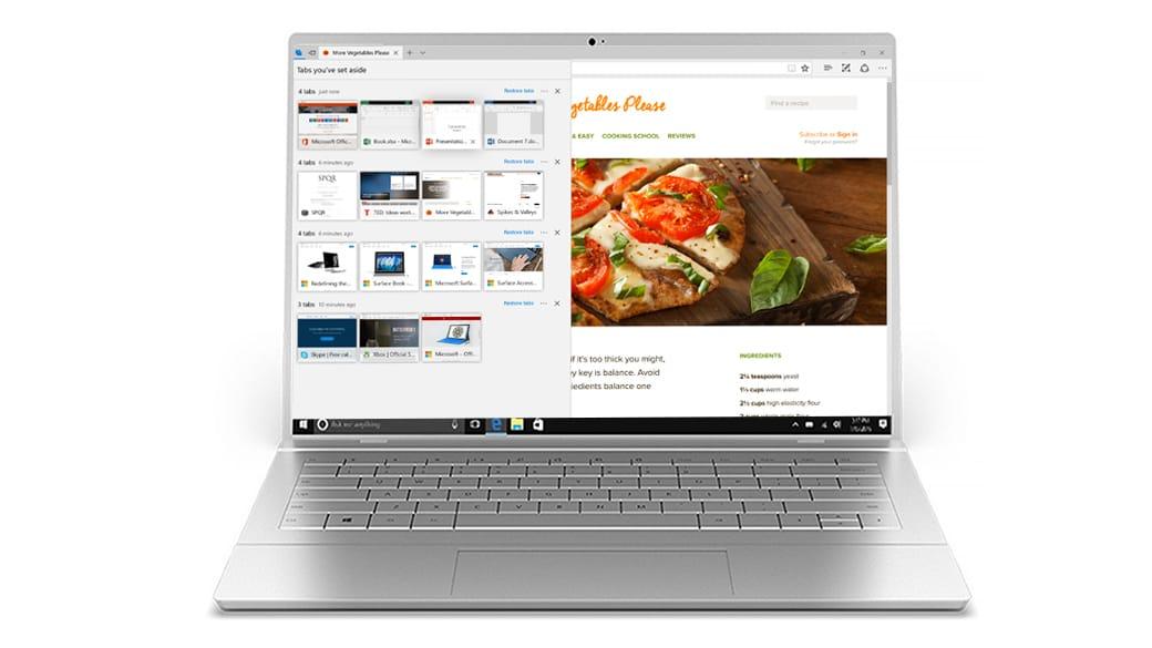 Flujo de pestañas de Microsoft Edge