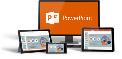 PowerPoint funciona en diferentes dispositivos.