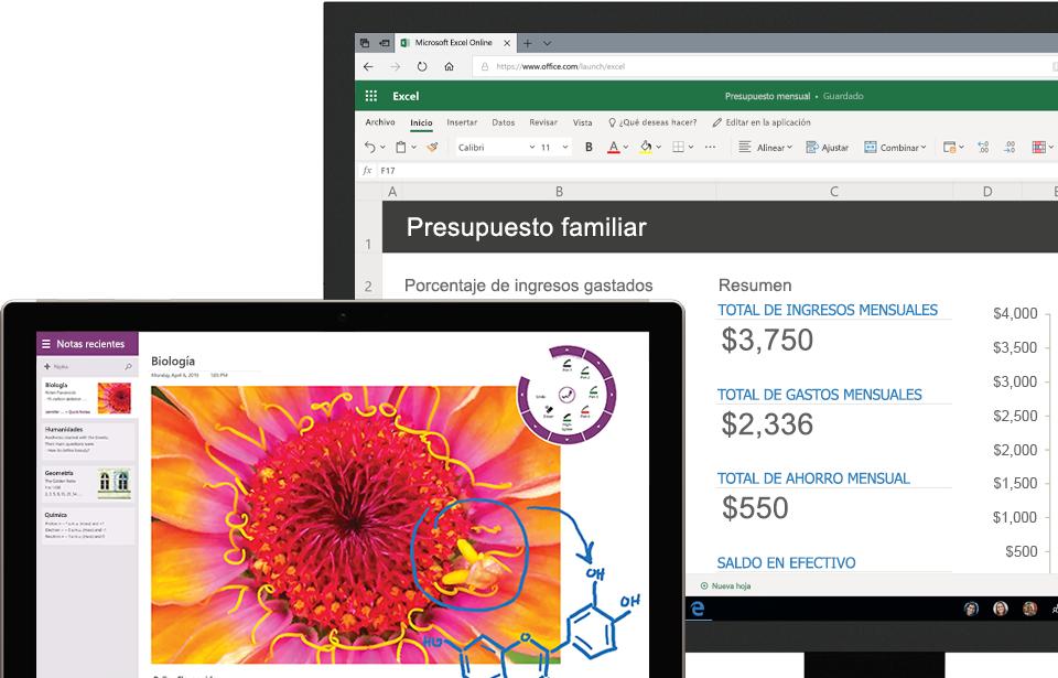 Dos tabletas donde se muestran aplicaciones de partners que funcionan con OneDrive para la Empresa