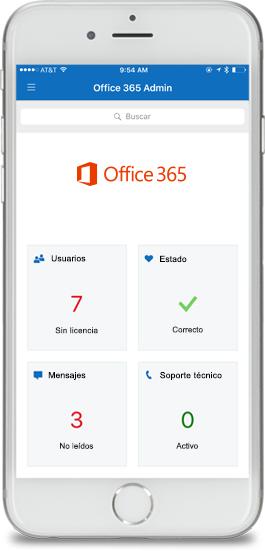 Aplicación de administración de Office 365