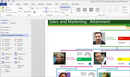 Captura de pantalla de un diagrama que muestra las formas y efectos que se pueden seleccionar.