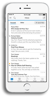 Outlook en iPhone