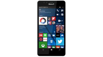 Un teléfono Windows con la pantalla Inicio