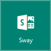 Logotipo de Sway, abrir Microsoft Sway