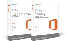 Office Hogar y Empresas 2016, Office Hogar y Estudiantes 2016