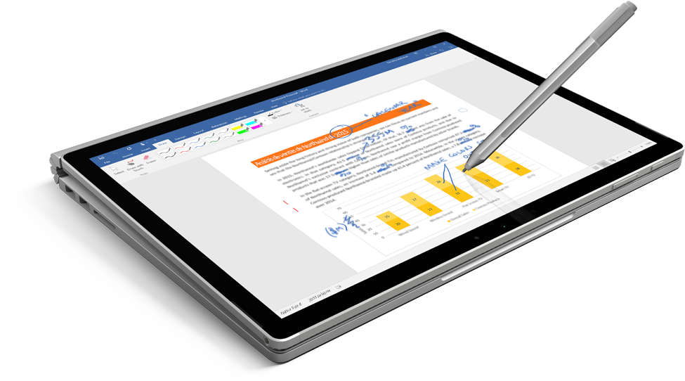 Tableta en la que se muestra un documento con un bolígrafo con el que se escribe una entrada manuscrita en la pantalla