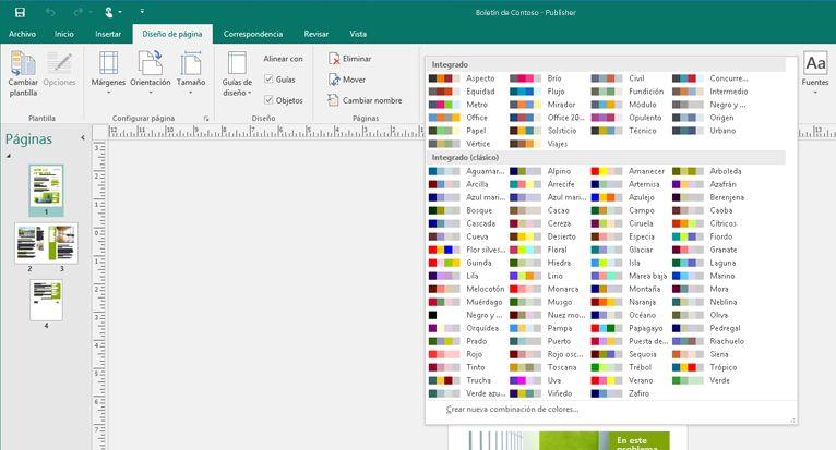 Publicación de Publisher con herramientas de imagen en la cinta de opciones.