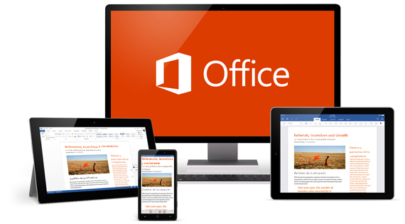 Office en diferentes dispositivos
