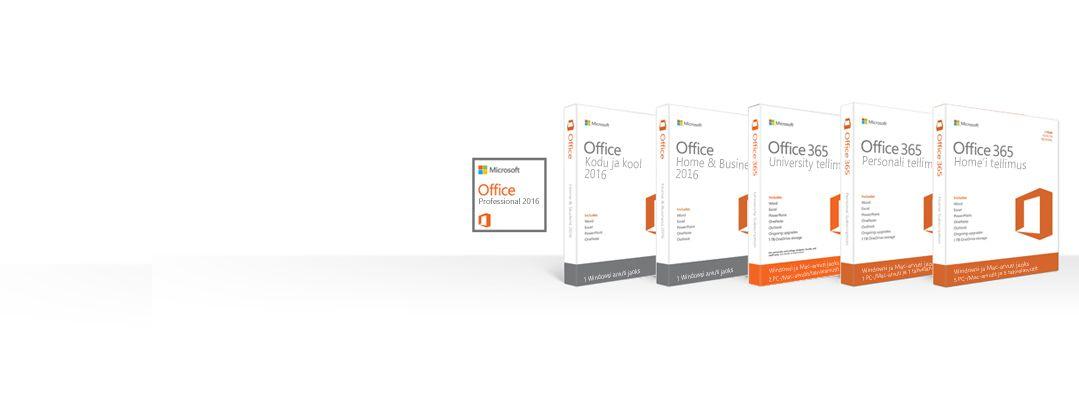 Office'i toodete allalaadimine, varundamine ja taastamine