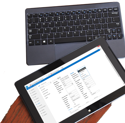 Arvutiekraan, kus on näha Access 2013 andmebaasirakenduse loendivaade.